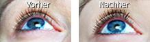 lange und dichte Wimpern